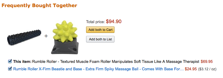Frequently Bought Together Product Bundle on Amazon.com